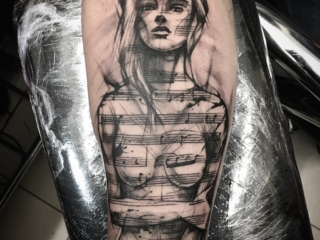 Abstract Black & Grey Tattoo black and white sleeve